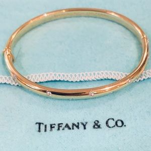 Tiffany Etoile 18 K Bangle with Diamonds